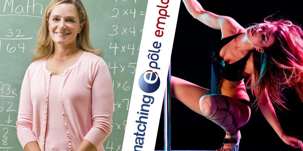 Teacher standing near blackboard