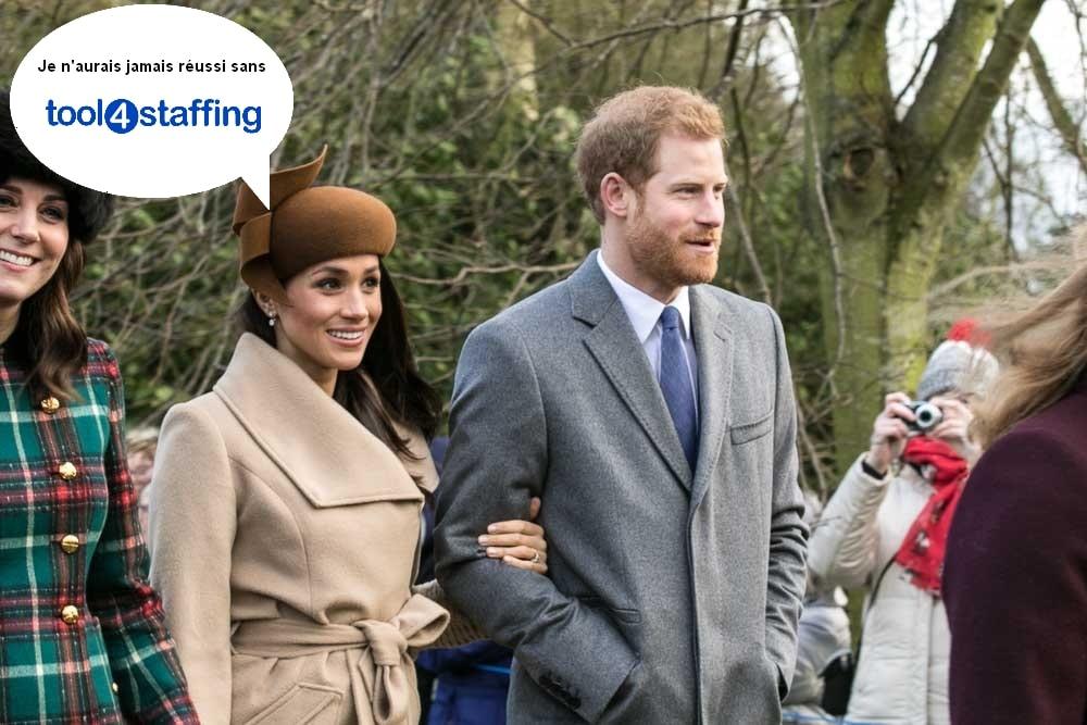 Meghan Markle et Prince Harry avec Tool4Staffing